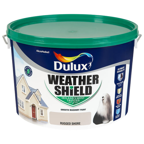 RUGGED SHORE  Dulux Weathershield Masonry Paint Colours - 10 Litre  At Beattys Loughrea Galway. Www.beattys.ie