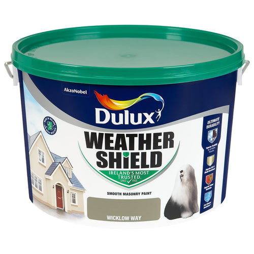 WICKLOW WAY  Dulux Weathershield Masonry Paint Colours - 10 Litre  At Beattys Loughrea Galway. Www.beattys.ie