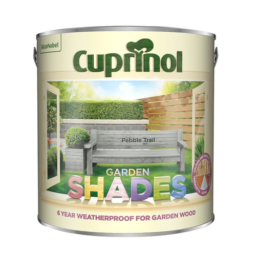 CUPRINOL 2.5L PEBBLE TRAIL GARDEN SHADES  At Beattys Loughrea Galway. Www.beattys.ie