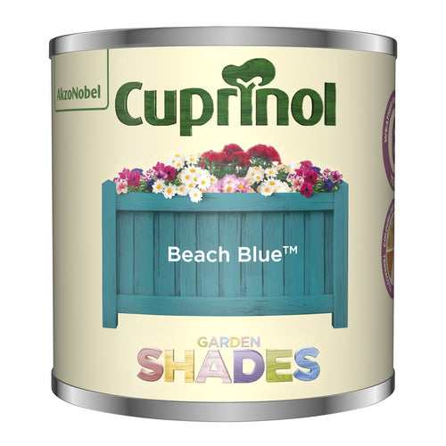 CUPRINOL 125ML BEACH BLUE TESTER GARDEN SHADES  At Beattys Loughrea Galway. Www.beattys.ie