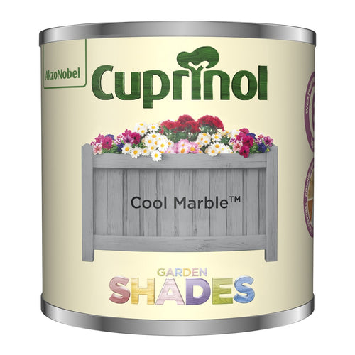CUPRINOL 125ML COOL MARBLE TESTER GARDEN SHADES  At Beattys Loughrea Galway. Www.beattys.ie