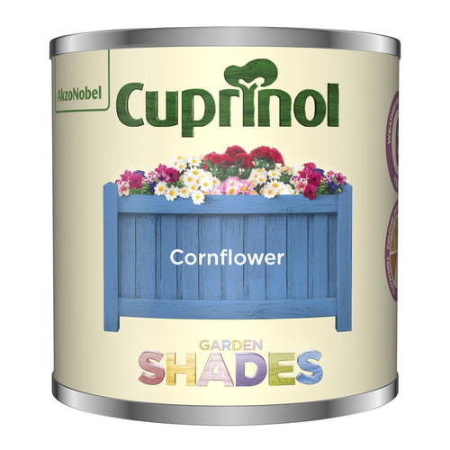 CUPRINOL 125ML CORNFLOWER TESTER GARDEN SHADES  At Beattys Loughrea Galway. Www.beattys.ie