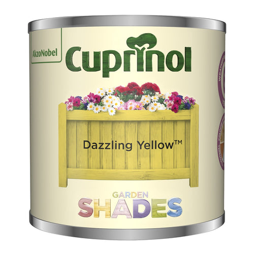CUPRINOL 125ML DAZZLING YELLOW TESTER GARDEN SHADES  At Beattys Loughrea Galway. Www.beattys.ie