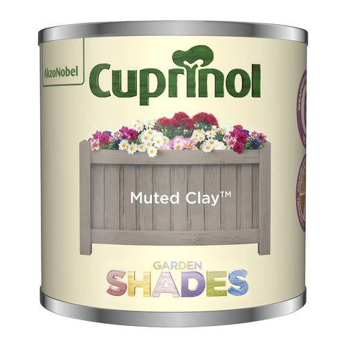 CUPRINOL 125ML MUTED CLAY TESTER GARDEN SHADES  At Beattys Loughrea Galway. Www.beattys.ie