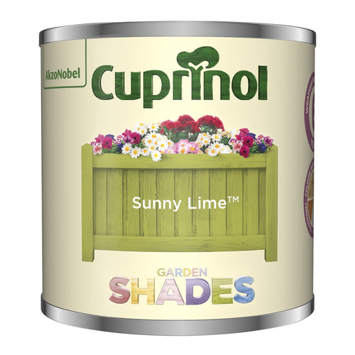 CUPRINOL 125ML SUNNY LIME TESTER GARDEN SHADES  At Beattys Loughrea Galway. Www.beattys.ie