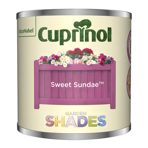 CUPRINOL 125ML SWEET SUNDAE TESTER GARDEN SHADES  At Beattys Loughrea Galway. Www.beattys.ie