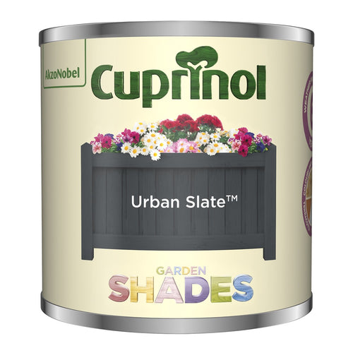 CUPRINOL 125ML URBAN SLATE TESTER GARDEN SHADES  At Beattys Loughrea Galway. Www.beattys.ie