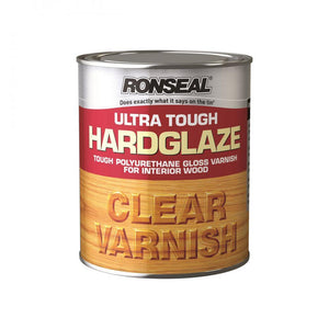 Ronseal Ultra Tough Varnish Gloss - 250ml Clear - Beattys of Loughrea , www.beattys.ie