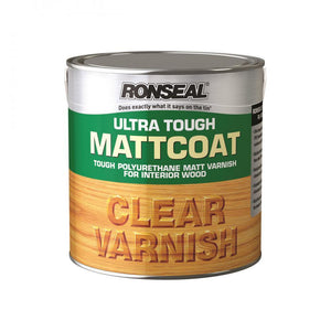 Ronseal Ultra Tough Varnish Matt - 5 Litre Clear - Beattys of Loughrea , www.beattys.ie