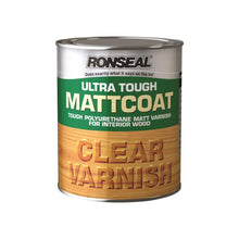 Load image into Gallery viewer, Ronseal Ultra Tough Varnish Matt - 750ml Clear - Beattys of Loughrea , www.beattys.ie