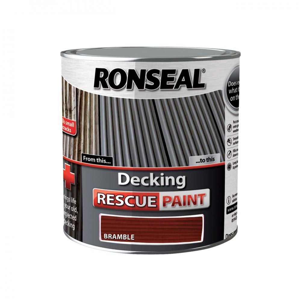 Ronseal Decking Rescue Paint - 2.5 Litre Bramble  At Beattys Loughrea Galway. Www.beattys.ie