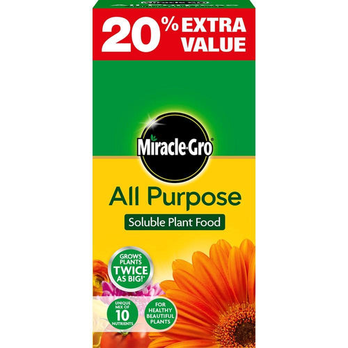 Miracle-Gro All Purpose Soluble Plant Food - 1kg + 20%  At Beattys Loughrea Galway. Www.beattys.ie