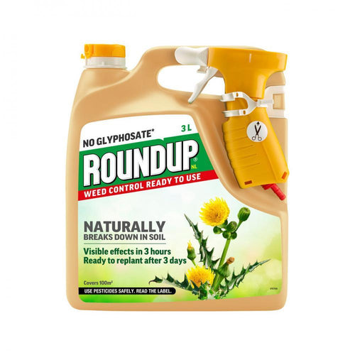 Roundup Natural No Glyphosate Ready to Use Weed Control  At Beattys Loughrea Galway. Www.beattys.ie