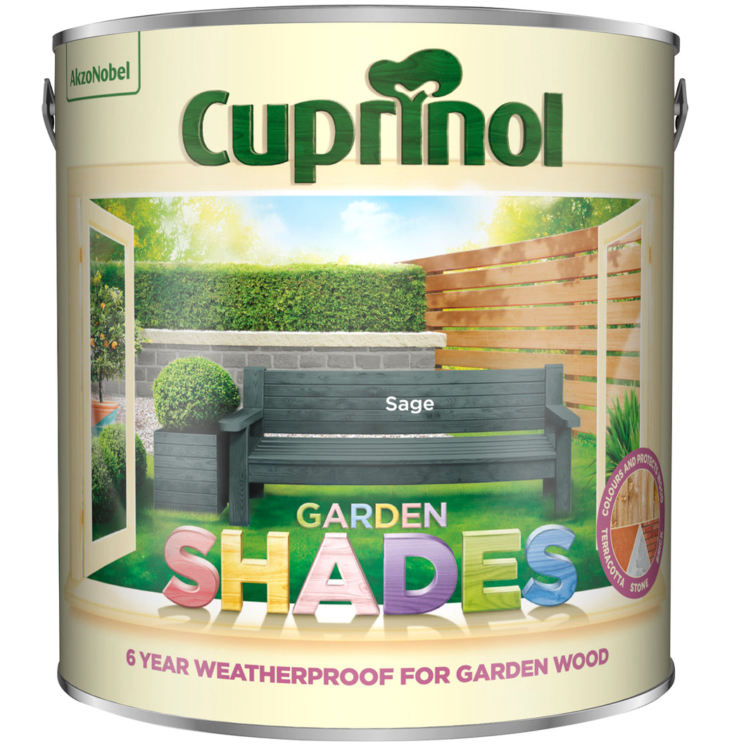 Cuprinol Garden Shades Colours Paint - 2.5 Litre - Beattys of Loughrea , www.beattys.ie