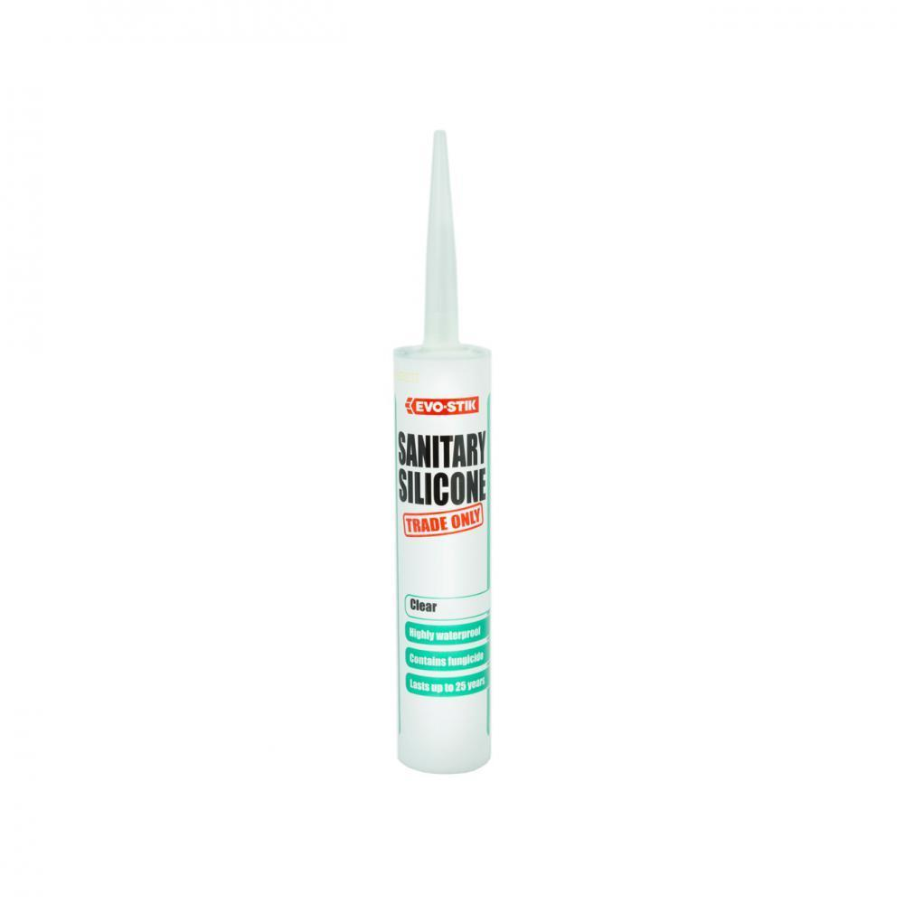 Evo-Stik Sanitary Silicone Sealant 310ml - Clear - Beattys of Loughrea , www.beattys.ie