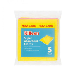 Killeen Super Absorbent Cloths - 5 Pack  At Beattys Loughrea Galway. Www.beattys.ie