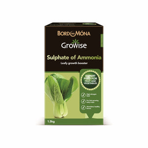 Bord na Mona Growise Sulphate of Ammonia - 1.5kg  At Beattys Loughrea Galway. Www.beattys.ie