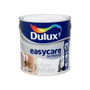 Dulux Easycare Satinwood Pure White Paint - 2.5 Litre  At Beattys Loughrea Galway. Www.beattys.ie