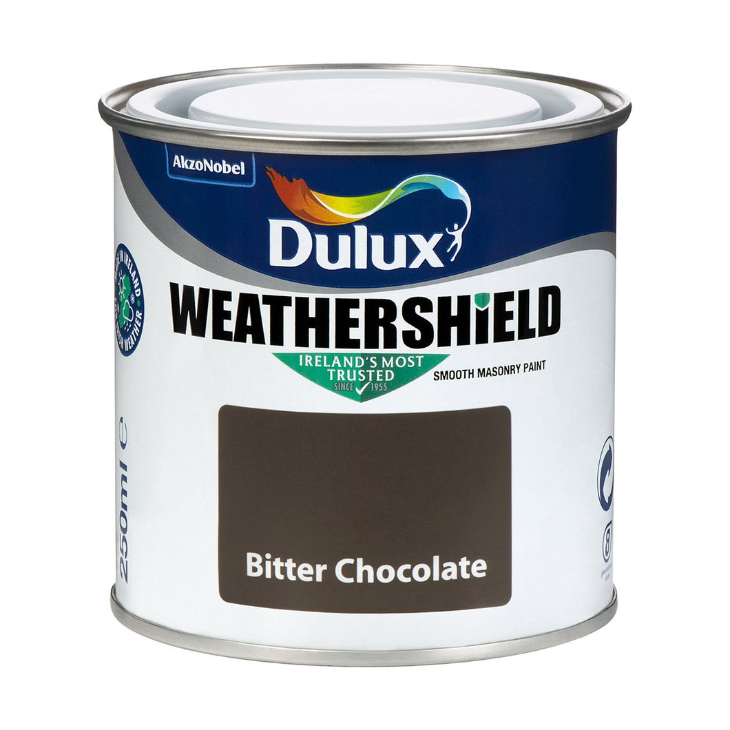 WEATHERSHIELD TESTER 250ML BITTER CHOCOLATE  At Beattys Loughrea Galway. Www.beattys.ie