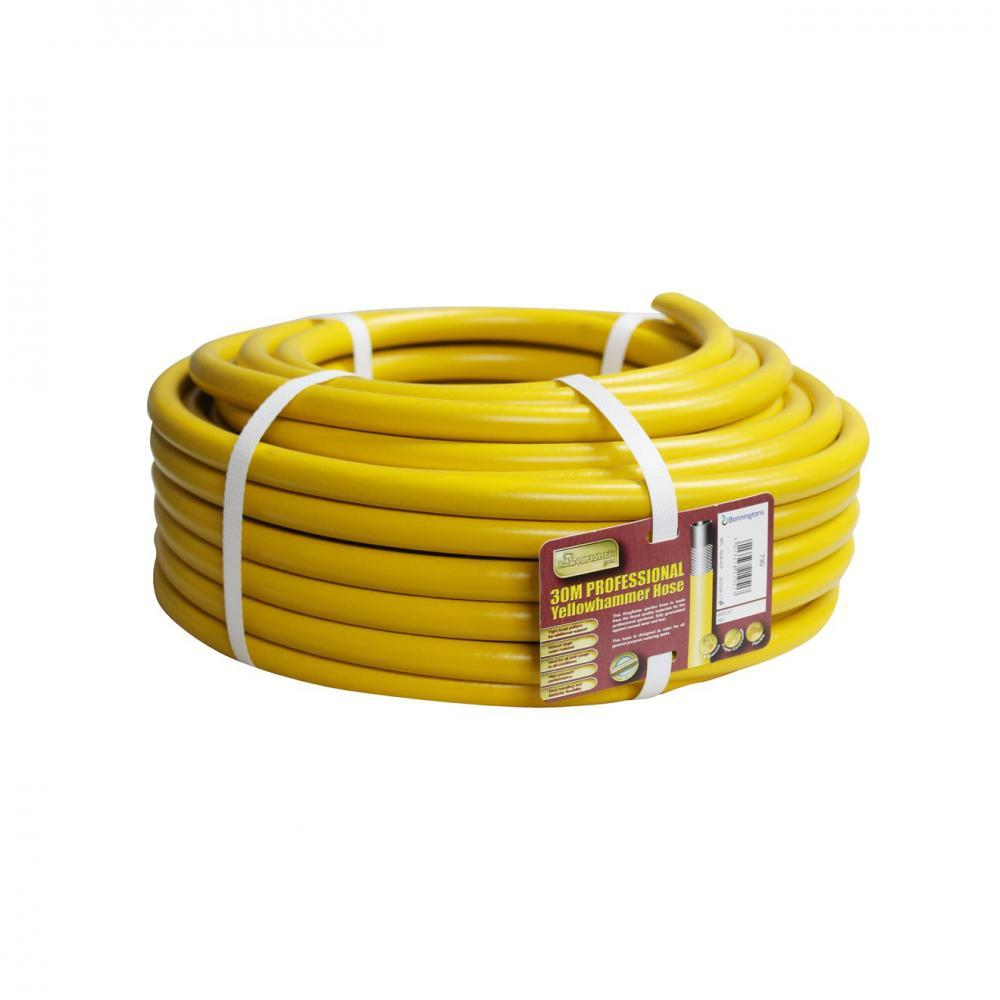 Garden Pro Yellow Reinforced Garden Hose - 30m  At Beattys Loughrea Galway. Www.beattys.ie