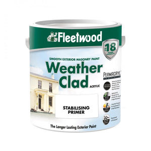 Fleetwood Weather Clad Stabilising Primer Clear - 5 Lit  At Beattys Loughrea Galway. Www.beattys.ie