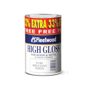 Fleetwood Traditional High Gloss Paint - 750ml + 33% Ex  At Beattys Loughrea Galway. Www.beattys.ie