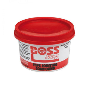 Boss White Pipe Jointing Compound - 400g  At Beattys Loughrea Galway. Www.beattys.ie