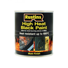 Load image into Gallery viewer, Rustins High Heat Black Paint - 500ml - Beattys of Loughrea , www.beattys.ie