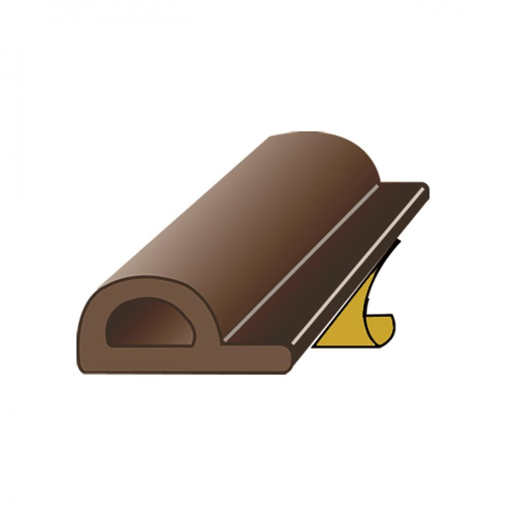 Exitex Brown P Strip Draught Excluder - 5m  At Beattys Loughrea Galway. Www.beattys.ie