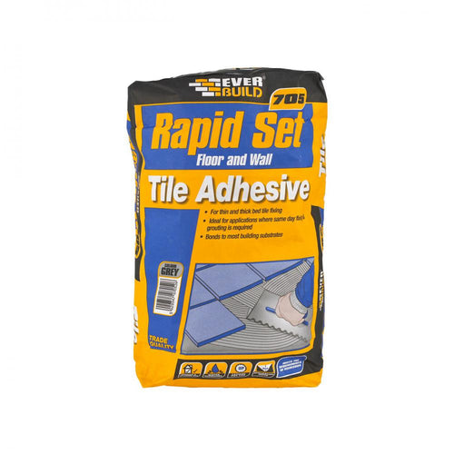 Everbuild 705 Rapid Set Tile Adhesive - 20kg - Beattys of Loughrea , www.beattys.ie
