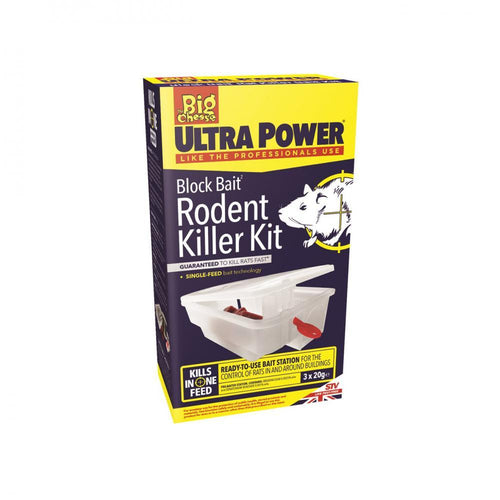 The Big Cheese Ultra Power Block Bait Mouse Killer Kit  At Beattys Loughrea Galway. Www.beattys.ie