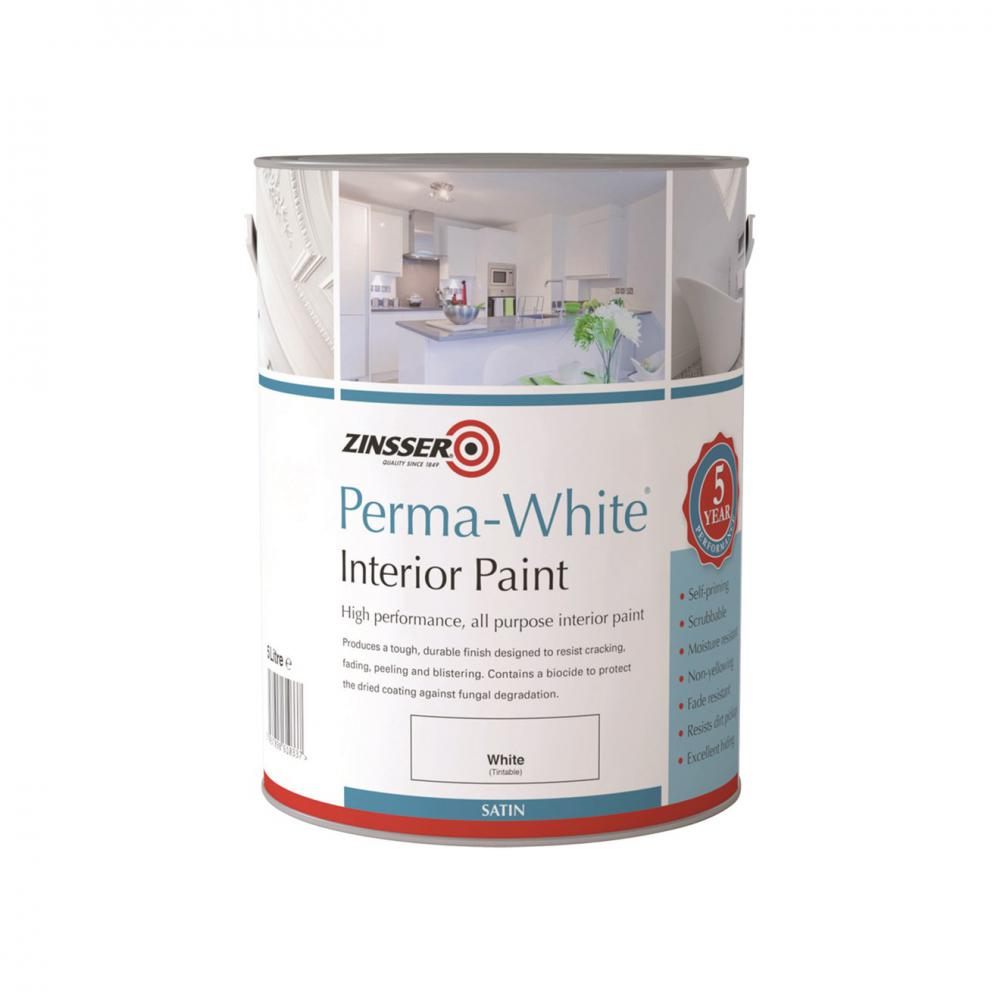 Zinsser Perma Interior Satin White Paint - 2.5 Litre  At Beattys Loughrea Galway. Www.beattys.ie