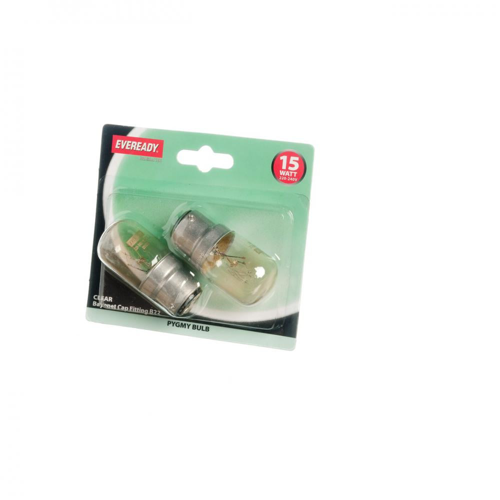 Eveready Incandescent Pygmy Light Bulb - 15W BC  At Beattys Loughrea Galway. Www.beattys.ie