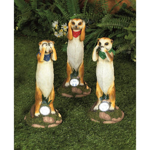 Premier Decorations Meerkat Garden Solar Light Set  At Beattys Loughrea Galway. Www.beattys.ie