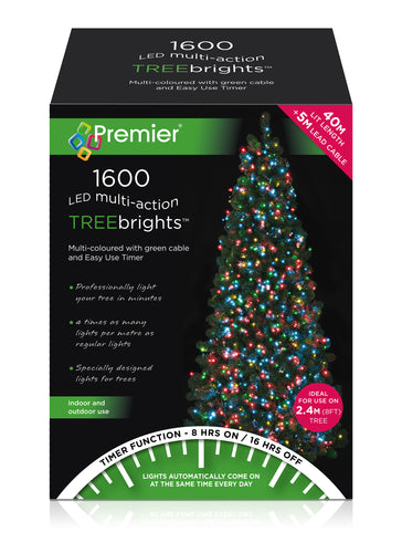 1600LED TREEBRIGHTS M/COLOUR W/TIMER 2019TB007 LIGHTS  At Beattys Loughrea Galway. Www.beattys.ie