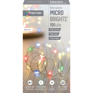 Premier 100 LED B/O Multi-Action Microbrights - Multi-Coloured  At Beattys Loughrea Galway. Www.beattys.ie