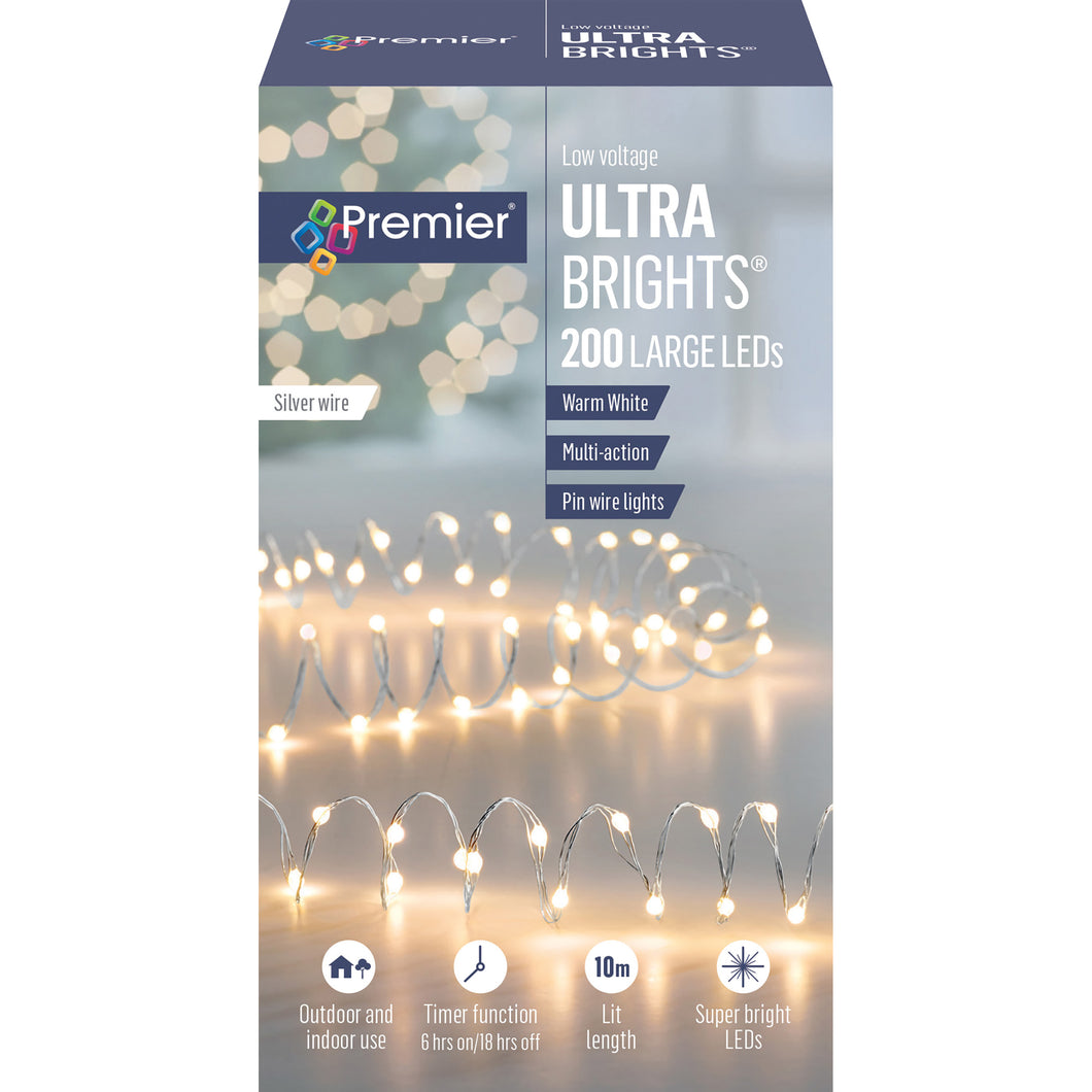 Premier 200 LV Large LED Multi-Action Ultrabrights - Warm White  At Beattys Loughrea Galway. Www.beattys.ie