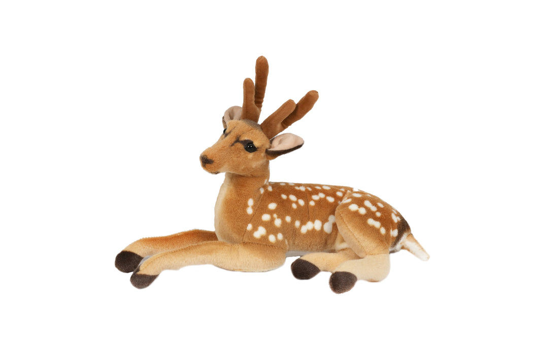 Plush Lying Down Deer - 50cm  At Beattys Loughrea Galway. Www.beattys.ie