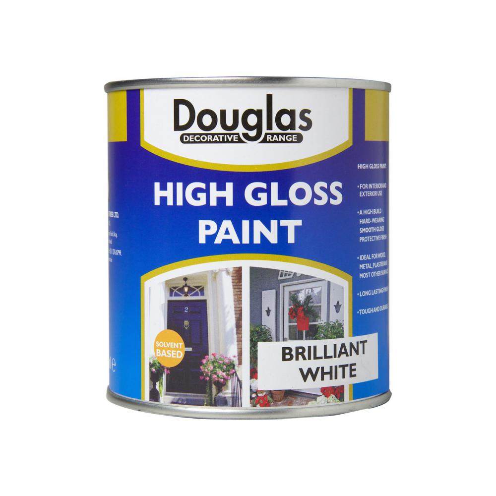 Douglas Decorative Range High Gloss White Paint - 500ml  At Beattys Loughrea Galway. Www.beattys.ie