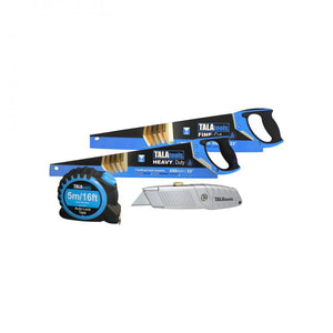 Tala Twin Saw Pack with Knife & Measuring Tape  At Beattys Loughrea Galway. Www.beattys.ie