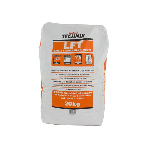 Evo-Stik Technik LFT Large Format Tile Adhesive 20kg - Beattys of Loughrea , www.beattys.ie