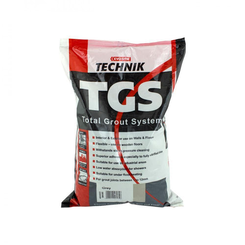 Evo-Stik Technik TGS Total Grout System 5kg - Grey - Beattys of Loughrea , www.beattys.ie