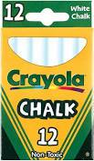 Crayola Chalk White - Beattys of Loughrea , www.beattys.ie