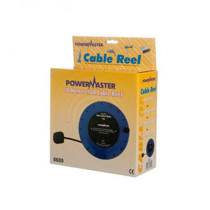 Powermaster 10 Amp 4 Gang Cable  Reel Cassette - 10m  At Beattys Loughrea Galway. Www.beattys.ie