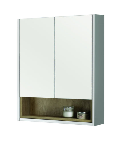 Bathroom Studio  Lucca 60cm Mirror Cabinet - Gloss White      BS2020  At Beattys Loughrea Galway. Www.beattys.ie