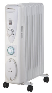 Sirocco Premium 9 Fin Oil Filled Radiator with Timer - 2kw  Buy at Beattys Loughrea. Www.beattys.ie