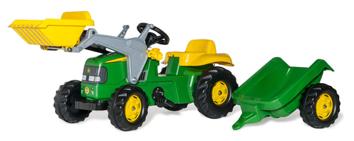 Rolly Kid John Deere Tractor with Loader & Trailer - Beattys of Loughrea , www.beattys.ie