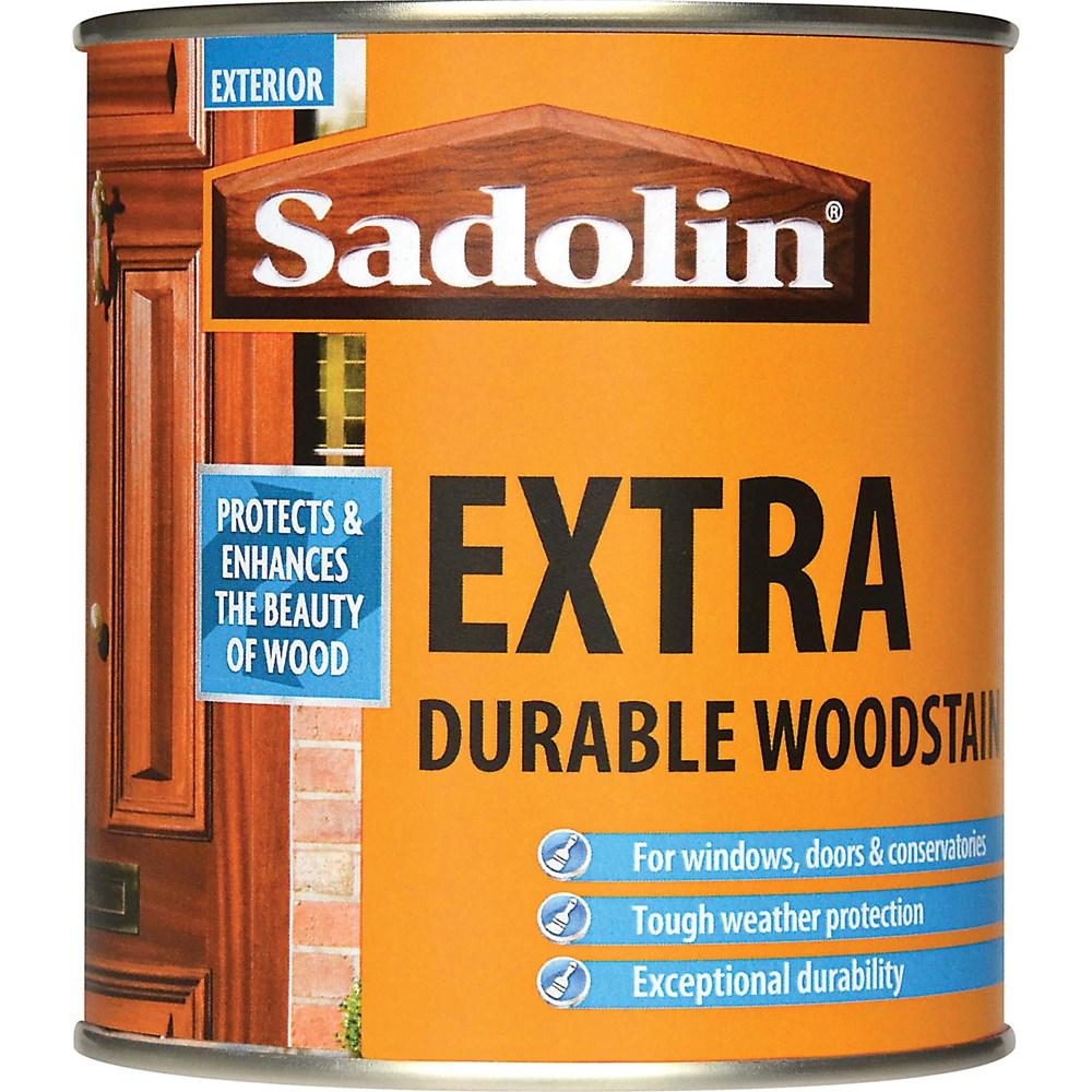 Sadolin Woodstain Extra Durable Colours Woodstain - 500  At Beattys Loughrea Galway. Www.beattys.ie