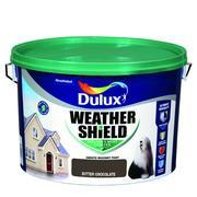 BITTER CHOCOLATE Dulux Weathershield Masonry Paint Colours - 10 Litre - Beattys of Loughrea , www.beattys.ie