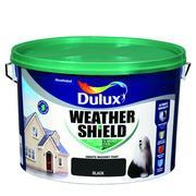 BLACK Dulux Weathershield Masonry Paint Colours - 10 Litre - Beattys of Loughrea , www.beattys.ie